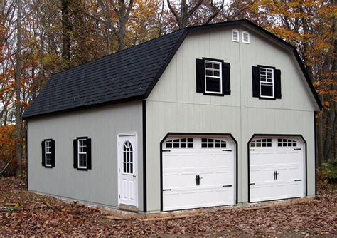 gambrel roof garage 24x30 2 car garage with gambrel barn style roof built