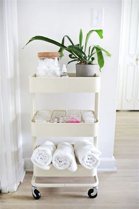 ikea bathroom organizer 60 smart ways to use ikea raskog cart for home storage