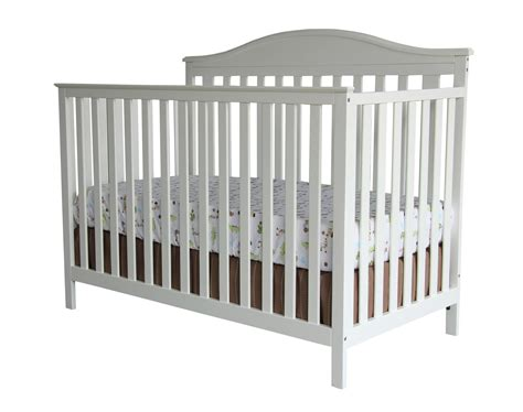 Simple Crib by Summer Infant Bryant 4 In 1 Convertible Crib With Simple Adjust Cool White