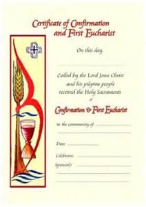 confirmation certificates templates jamberoo sacramental certificates