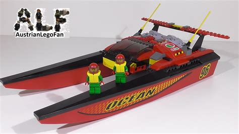 lego city fishing boat speed build lego city 7244 speedboat lego speed build review youtube
