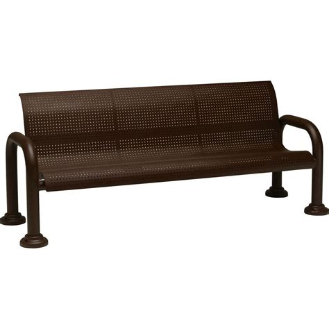 hd bench tradewinds harbor 6 ft contract perforated bench with