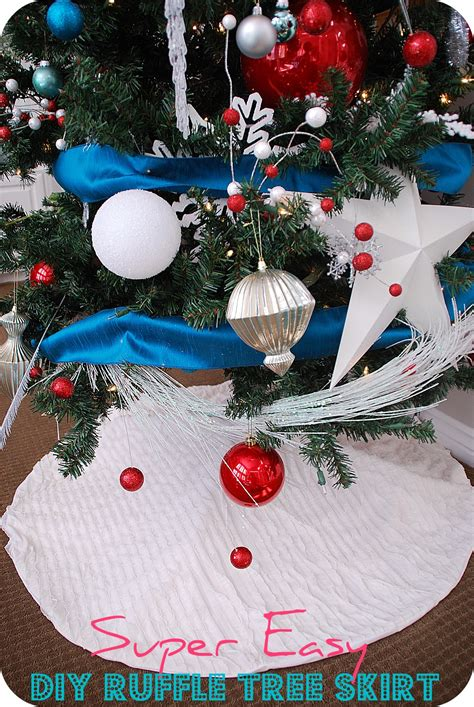 diy no sew ruffle christmas tree skirt easy youtube search