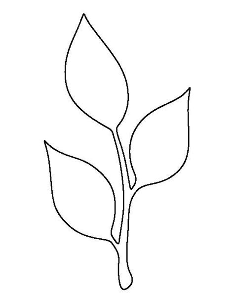leaf pattern craft stem and leaf pattern use the printable outline for