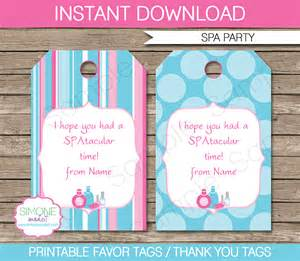 templates for tags for favors spa favor tags template thank you tags