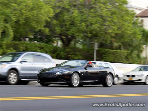 Aston Martin Of Palm by Aston Martin Db9 Spotted In Palm Florida On 02 18 2017