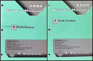 manual repair autos 1997 buick park avenue spare parts catalogs 1997 buick park avenue repair shop manual original 2 volume set