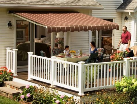 Patio Awning Motorized Sunsetter Motorized Xl And Xl Pro Retractable Deck Awnings