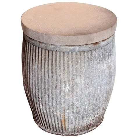 galvanized dolly tubs side tables at 1stdibs