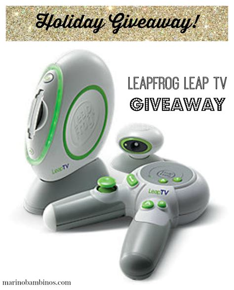 Tv Sweepstakes 2014 - leapfrog leap tv giveaway marinobambinos
