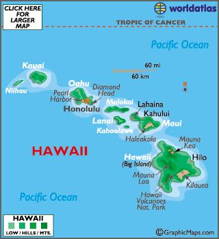 hawaii map / geography of hawaii/ map of hawaii