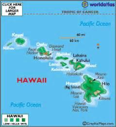 hawaii map geography of hawaii map of hawaii