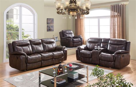braylon black reclining sofa loveseat set in leather