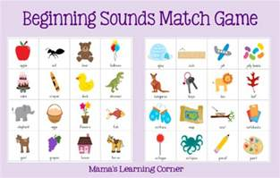 beginning sounds match game mamas learning corner