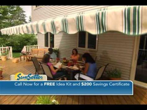 sunsaver awnings sunsetter retractable awnings