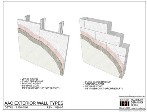 10 types of matching wall 13 400 0104 aac exterior wall types international masonry institute
