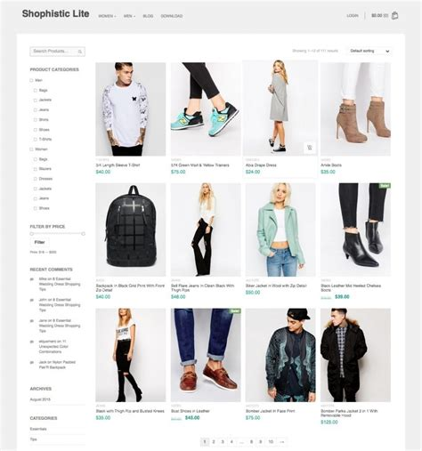 woocommerce themes clothing 35 best free wordpress woocommerce themes for 2017