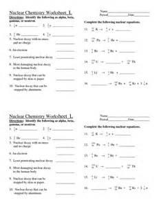 nuclear chemistry worksheet doc teaching pinterest