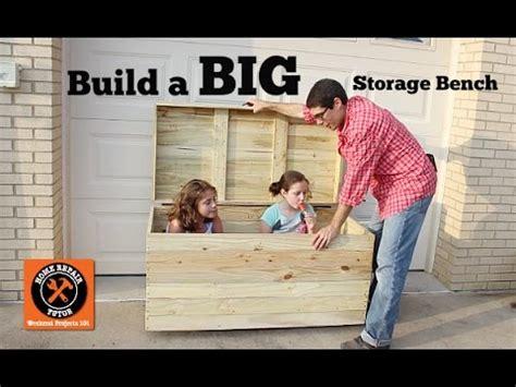 build  big outdoor storage bench  home repair tutor