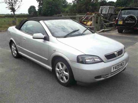 vauxhall convertible vauxhall 2001 astra coupe convertible silver 1796cc car