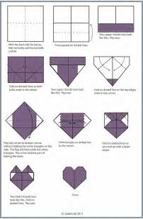 How Do You Make The Paper Folding - best 20 origami hearts ideas on