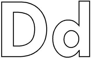 letter d coloring pages free coloring pages of letter d