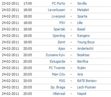 Calendario Da Liga Dos Ceoes O Melhor Da Tv Calend 225 Da Liga Europa E Liga Dos