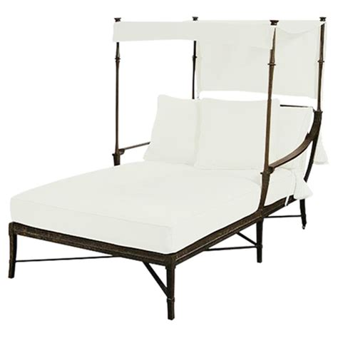 chaise lounge with canopy jane modern french white canopy metal outdoor double