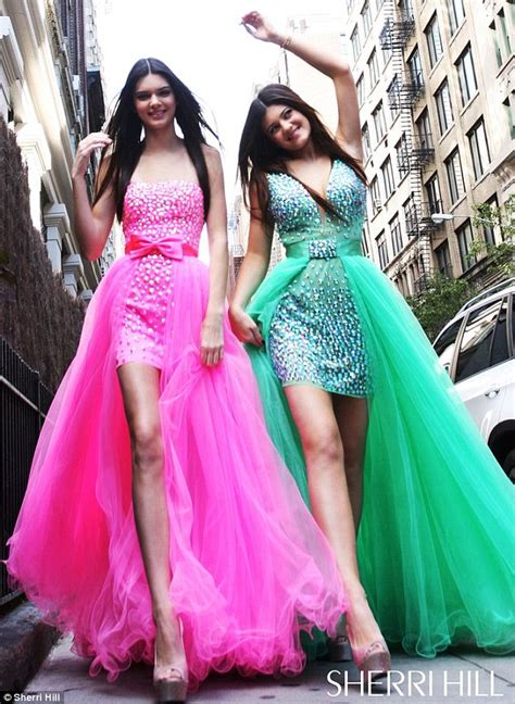 Belles of the ball kendall and kylie jenner model the