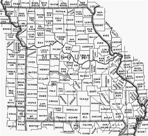 missouri map county lines townships in missouri