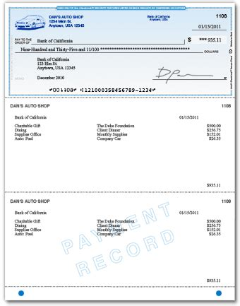 quickbooks supplied template check stub template autos post