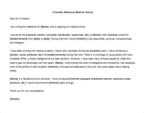 Recommendation Letter For College Of Medicine character letter of recommendation 7 free word excel