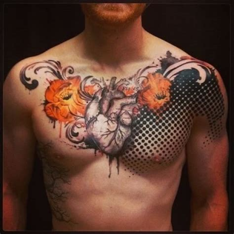 top 10 tattoos for men the 100 best chest tattoos for improb
