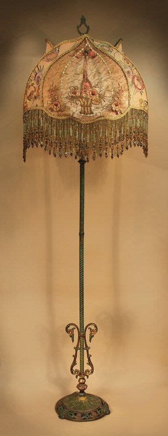 antique floor lamp with one of a kind victorian style lamp