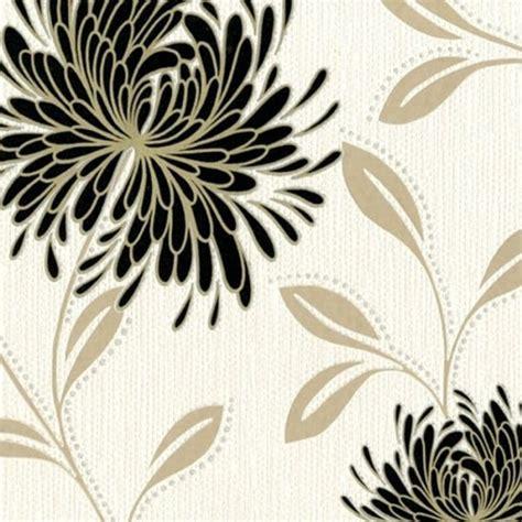 wallpaper black cream buy belgravia dahlia wallpaper black cream