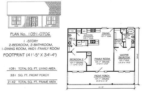 2 bedroom house plans one story 2 bedrooms single lot