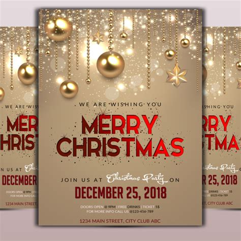christmas flyer png vector psd  clipart  transparent background