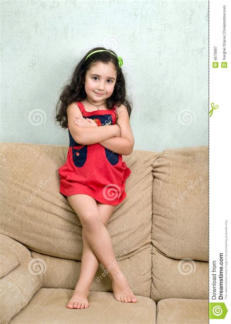 little girls little pics little girl and folded arms royalty free stock photography