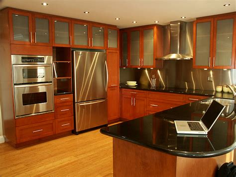 Interior Of Kitchen Cabinets Inspiring Home Design Stainless Kitchen Interior Designs With Hardwood Floors