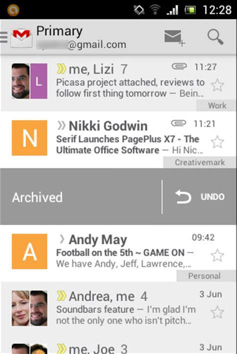 gmail for android unveils radical new design, adds support