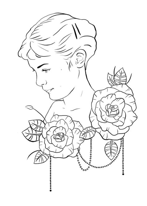amelie poulain tattoo design outline by ziuuziuu on deviantart