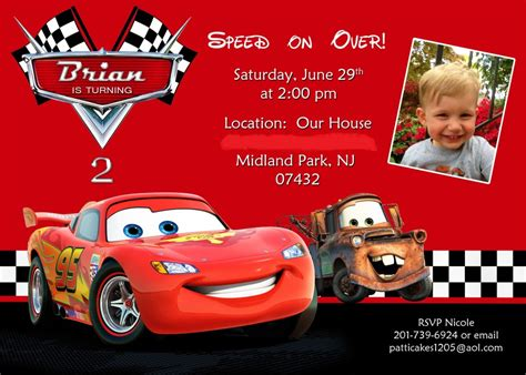 disney cars birthday invitation maker disney cars birthday invitations sansalvaje