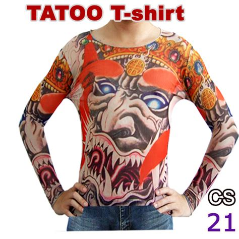 tattoo aftercare long sleeve new long sleeve fake tattoo t shirt mix designs temporary