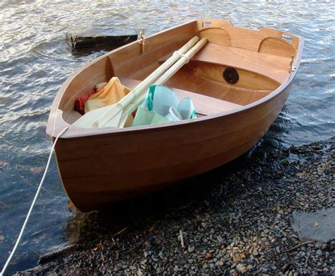 row boat dinghy wooden row boat with motor