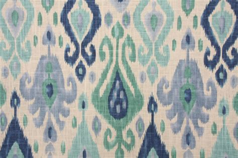 turquoise drapery fabric richloom platinum collection django printed linen blend