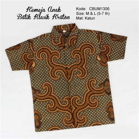 Batik Pekalongan Kemeja Batik Clasik Hz kemeja batik anak klasik kraton kemeja murah batikunik