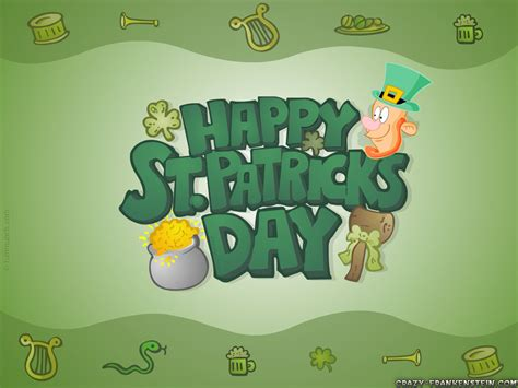 Ugadi Decorations At Home by St Patrick S Day Holiday Wallpapers Crazy Frankenstein