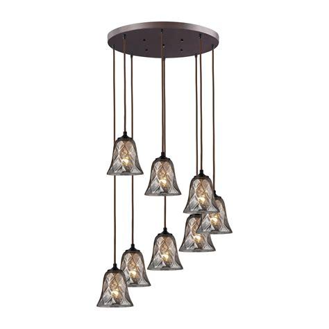 Elk Lighting Pendant Fixtures Elk Lighting 46000 8r Darien 8 Light Multi Pendant Fixture In Bronze