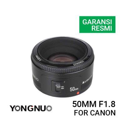 Lensa Canon Ef 50mm F1 8 New jual yongnuo lensa canon 50mm harga murah