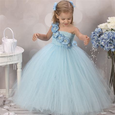 design flower girl dresses new design cute blue flower girls dresses for wedding rose